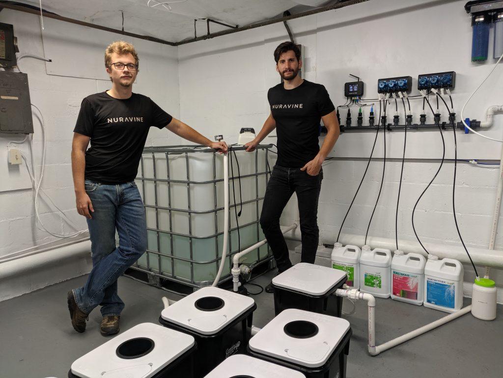 Nuravine founders Adrian Logan (left) Alex Babich (right)